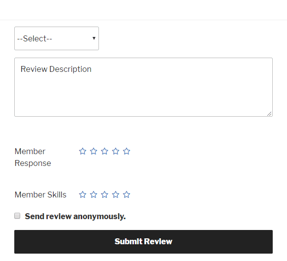 Add Reviews to members Profile