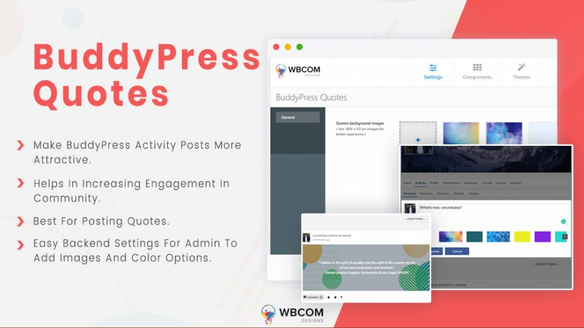 Add Quotes To BuddyPress Website