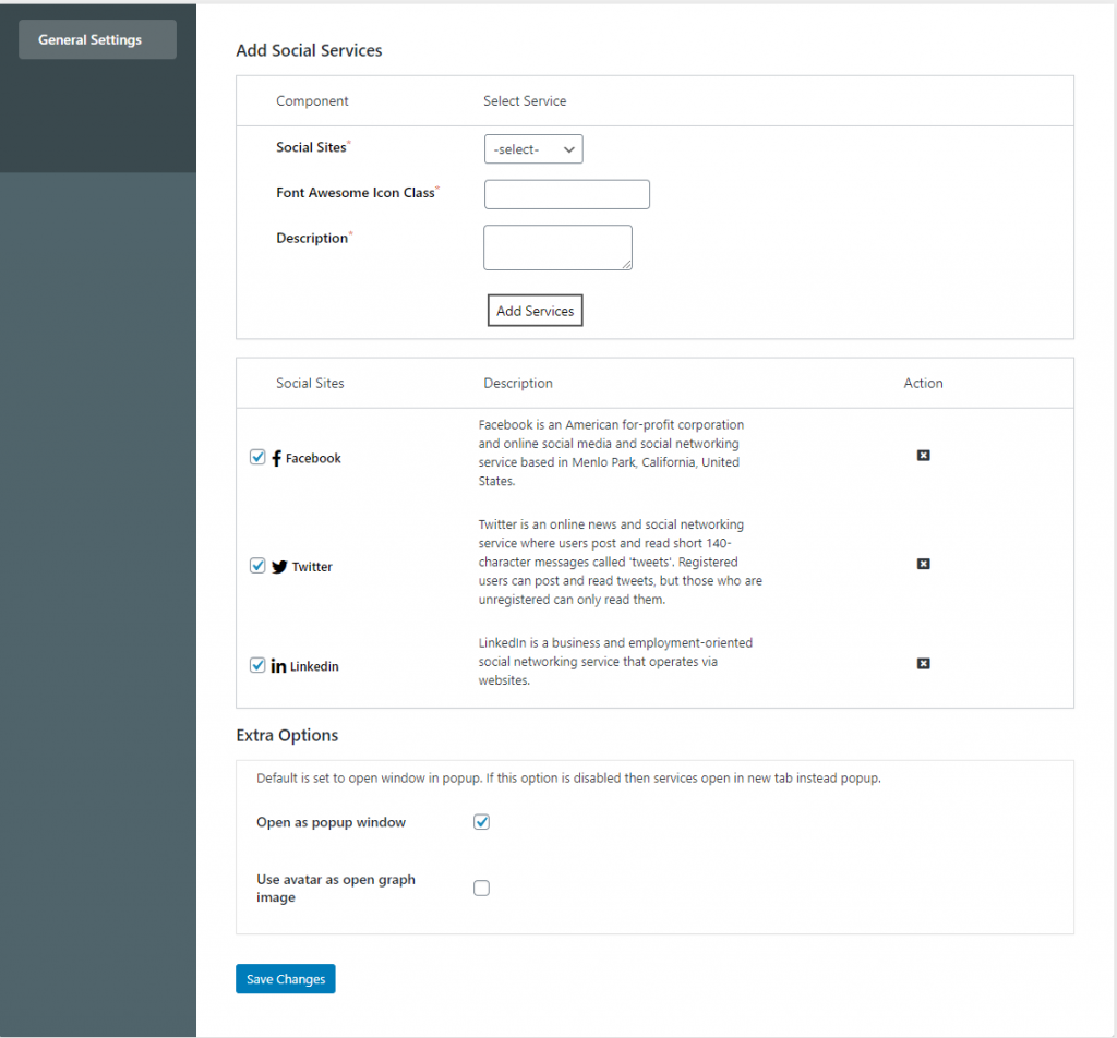 Add Social Share Button In BuddyPress
