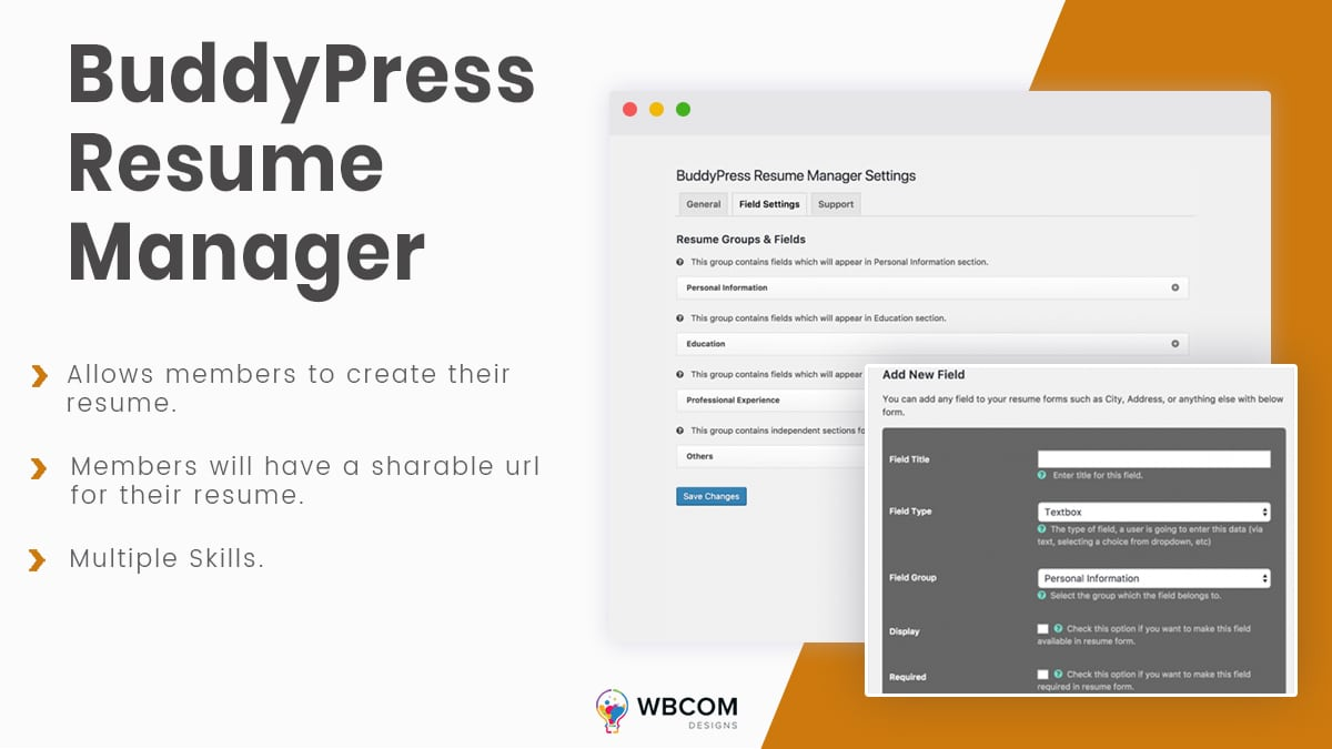 BuddyPress resume-manager