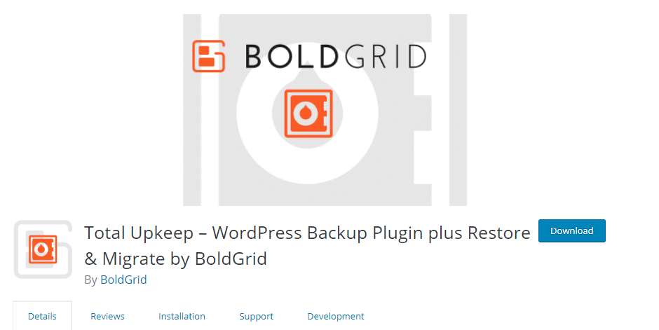 WordPress backup solution